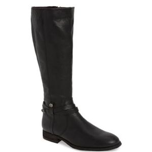 Extended Calf Melissa Belted Tall Black Boots